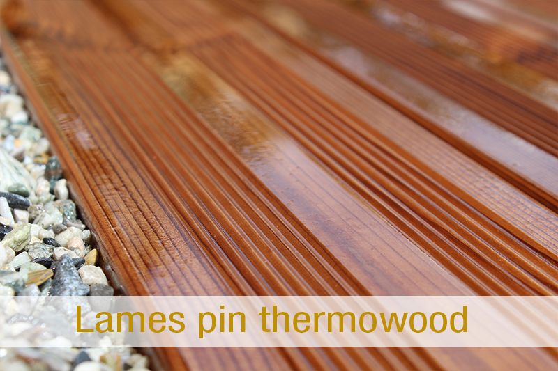 Lames pin thermowood